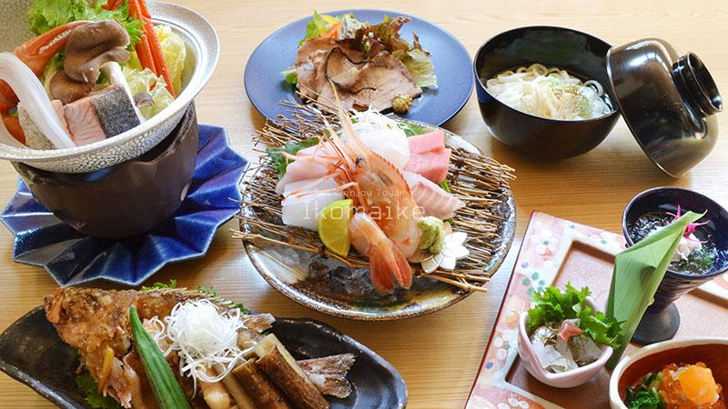 富山駅前の居酒屋冬のコース料理